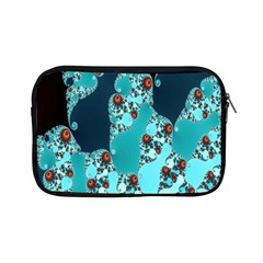 Decorative Fractal Background Apple Ipad Mini Zipper Cases by Simbadda