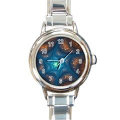 Fractal Star Round Italian Charm Watch by Simbadda