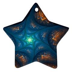 Fractal Star Ornament (star) by Simbadda