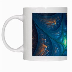 Fractal Star White Mugs by Simbadda