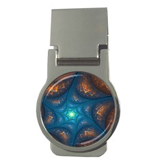Fractal Star Money Clips (round)  by Simbadda
