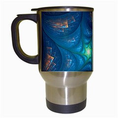 Fractal Star Travel Mugs (white) by Simbadda