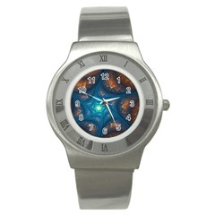 Fractal Star Stainless Steel Watch by Simbadda