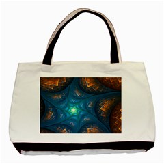 Fractal Star Basic Tote Bag by Simbadda