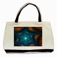 Fractal Star Basic Tote Bag (two Sides) by Simbadda