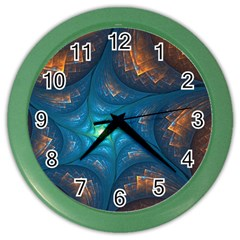 Fractal Star Color Wall Clocks by Simbadda
