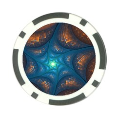 Fractal Star Poker Chip Card Guard (10 Pack) by Simbadda