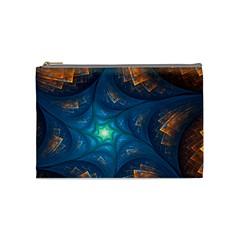 Fractal Star Cosmetic Bag (medium)  by Simbadda