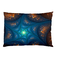 Fractal Star Pillow Case (two Sides) by Simbadda