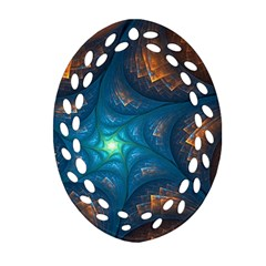 Fractal Star Ornament (oval Filigree) by Simbadda