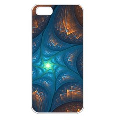Fractal Star Apple Iphone 5 Seamless Case (white) by Simbadda