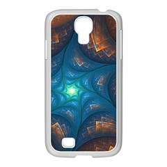 Fractal Star Samsung Galaxy S4 I9500/ I9505 Case (white) by Simbadda