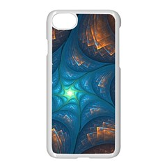 Fractal Star Apple Iphone 7 Seamless Case (white) by Simbadda