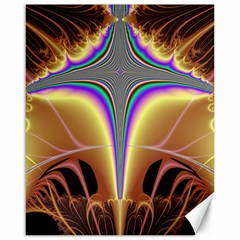 Symmetric Fractal Canvas 16  X 20   by Simbadda
