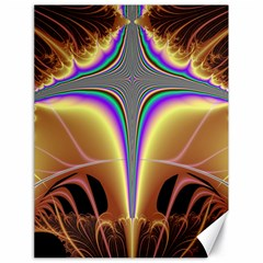 Symmetric Fractal Canvas 18  X 24   by Simbadda