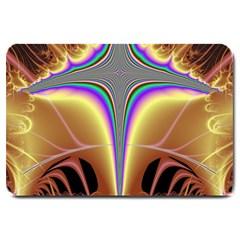 Symmetric Fractal Large Doormat  by Simbadda