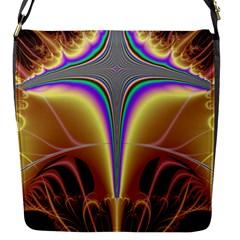 Symmetric Fractal Flap Messenger Bag (s) by Simbadda