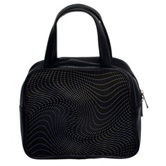 Distorted Net Pattern Classic Handbags (2 Sides)