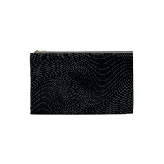 Distorted Net Pattern Cosmetic Bag (small)  by Simbadda