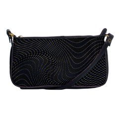 Distorted Net Pattern Shoulder Clutch Bags by Simbadda