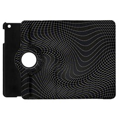 Distorted Net Pattern Apple Ipad Mini Flip 360 Case by Simbadda