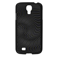 Distorted Net Pattern Samsung Galaxy S4 I9500/ I9505 Case (black) by Simbadda