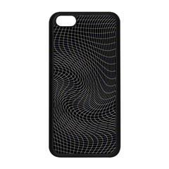 Distorted Net Pattern Apple Iphone 5c Seamless Case (black) by Simbadda