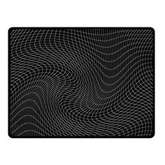 Distorted Net Pattern Double Sided Fleece Blanket (small)  by Simbadda