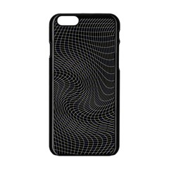 Distorted Net Pattern Apple Iphone 6/6s Black Enamel Case by Simbadda
