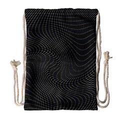 Distorted Net Pattern Drawstring Bag (large) by Simbadda