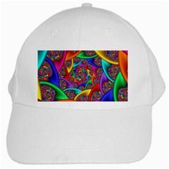 Color Spiral White Cap by Simbadda