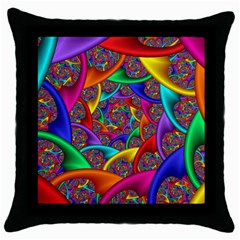 Color Spiral Throw Pillow Case (black) by Simbadda