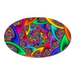 Color Spiral Oval Magnet by Simbadda