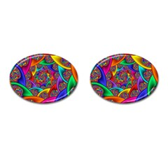 Color Spiral Cufflinks (oval) by Simbadda