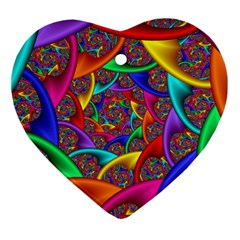 Color Spiral Heart Ornament (two Sides) by Simbadda