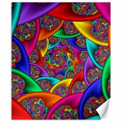 Color Spiral Canvas 8  X 10  by Simbadda
