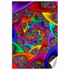 Color Spiral Canvas 20  X 30   by Simbadda