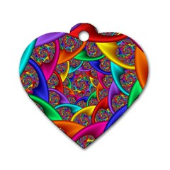 Color Spiral Dog Tag Heart (two Sides) by Simbadda