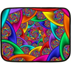 Color Spiral Double Sided Fleece Blanket (mini)  by Simbadda