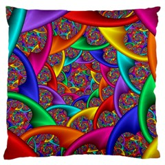 Color Spiral Large Cushion Case (one Side) by Simbadda