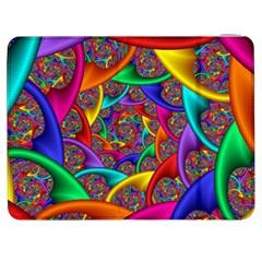 Color Spiral Samsung Galaxy Tab 7  P1000 Flip Case by Simbadda