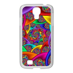 Color Spiral Samsung Galaxy S4 I9500/ I9505 Case (white) by Simbadda
