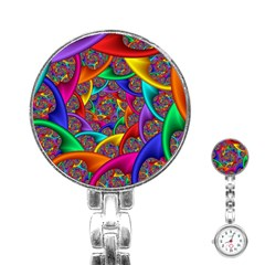 Color Spiral Stainless Steel Nurses Watch by Simbadda
