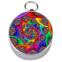 Color Spiral Silver Compasses by Simbadda