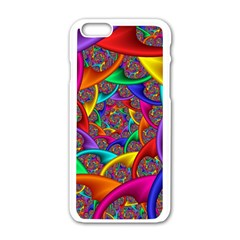Color Spiral Apple Iphone 6/6s White Enamel Case by Simbadda
