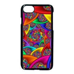 Color Spiral Apple Iphone 7 Seamless Case (black) by Simbadda