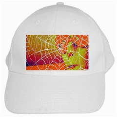 Orange Guy Spider Web White Cap by Simbadda