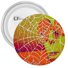 Orange Guy Spider Web 3  Buttons by Simbadda
