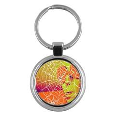 Orange Guy Spider Web Key Chains (Round)  by Simbadda