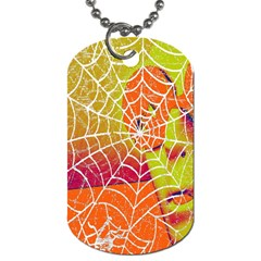 Orange Guy Spider Web Dog Tag (two Sides) by Simbadda